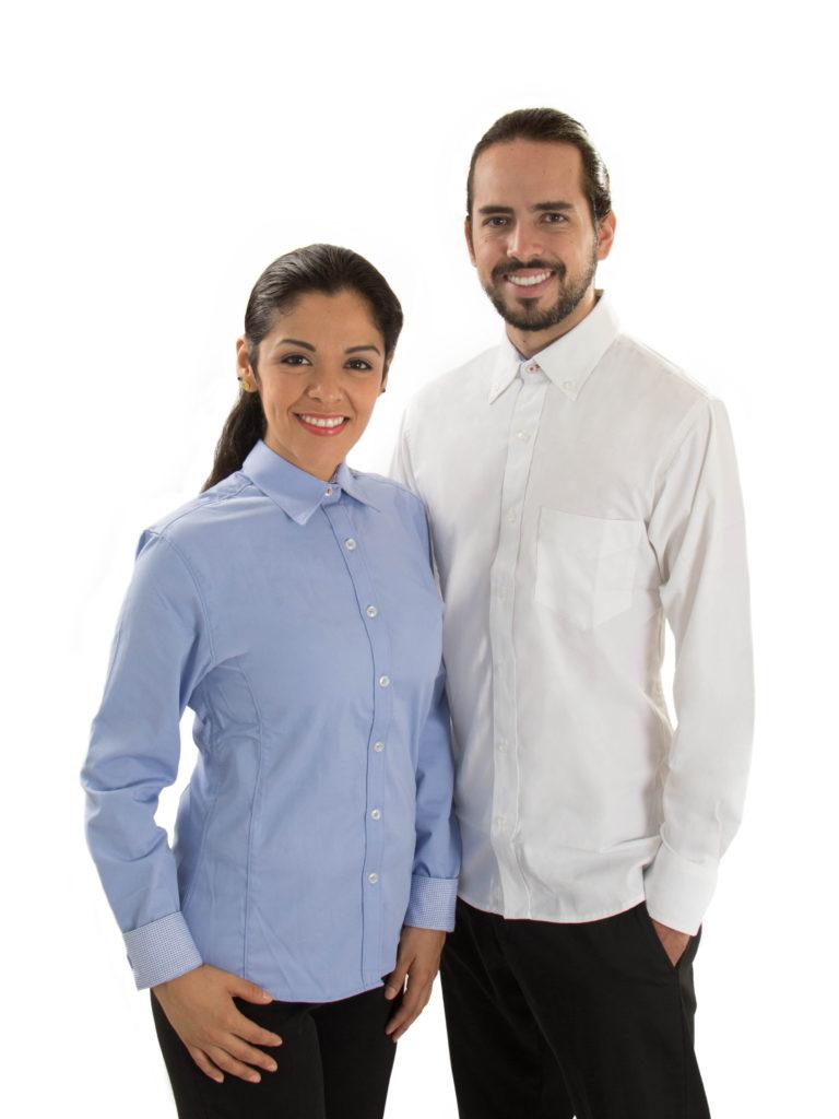 9950c40ce8d Uniformes Ejecutivos para Empresas. Camisas y Blusas con Manga Larga o  Manga Corta. Personaliza